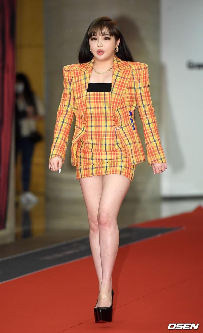 Park Bom gây sốc khuôn mặt méo mó đến lạ, hút hết truyền thông trước dàn diễn viên đình đám ở thảm đỏ Oscars Hàn Quốc - ảnh 5