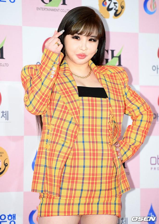 Park Bom gây sốc khuôn mặt méo mó đến lạ, hút hết truyền thông trước dàn diễn viên đình đám ở thảm đỏ Oscars Hàn Quốc - ảnh 3
