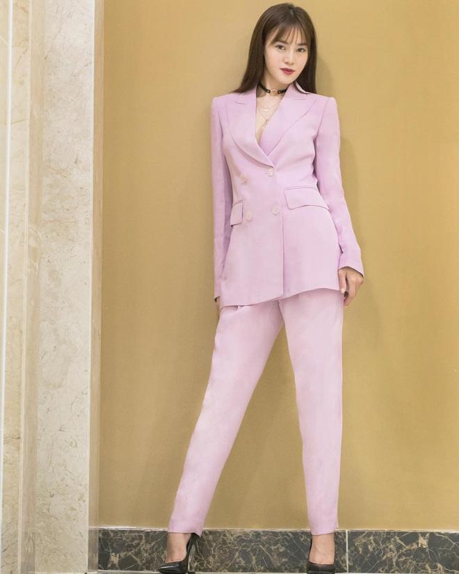 Sao Việt khi diện suit tím hot trend: Người đẹp tinh tế, người sến sẩm; nàng công sở xem cũng rút được khối kinh nghiệm - ảnh 1