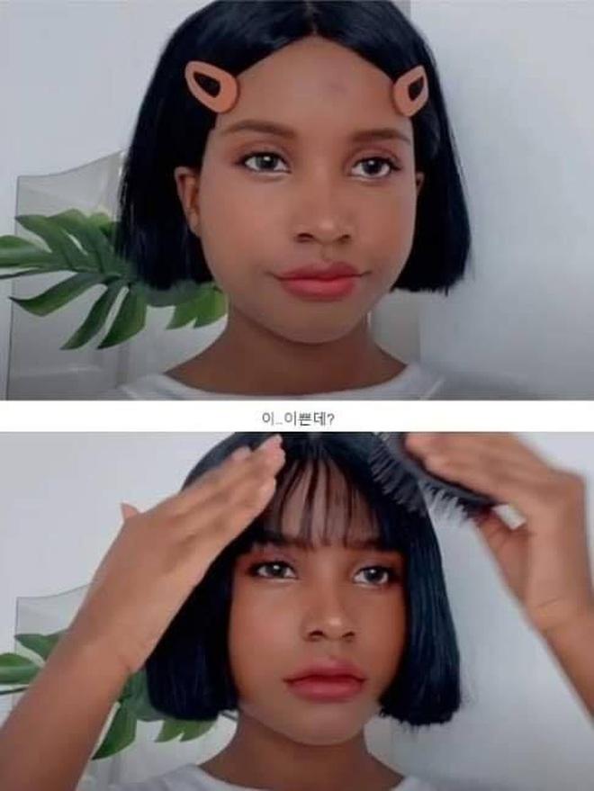 Thử makeup giống ulzzang, cô nàng da màu khiến dân tình gật gù: Style Hàn Quốc đúng là đỉnh như lời đồn! - Ảnh 2.