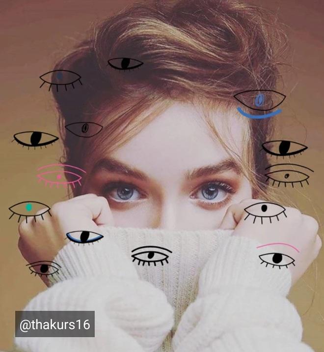 Lạ lẫm với thử thách Doodle Eyes của PicArt, toàn mắt là mắt nhưng cuốn hút lạ kỳ - ảnh 3