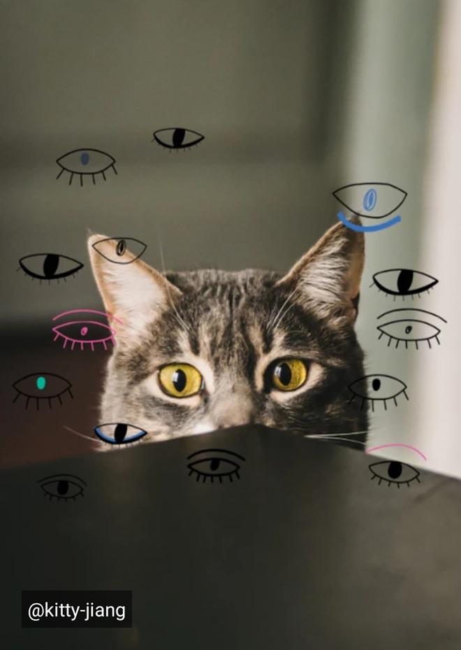 Lạ lẫm với thử thách Doodle Eyes của PicArt, toàn mắt là mắt nhưng cuốn hút lạ kỳ - ảnh 4
