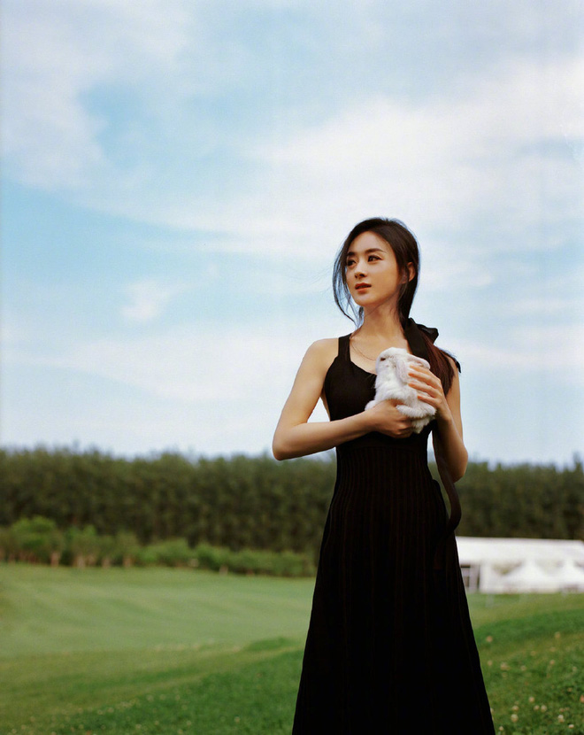 Sau bê bối copy Dương Mịch, Triệu Lệ Dĩnh gây náo loạn với bộ ảnh mới: Visual hút hồn, eo và rãnh lưng như đòi mạng - ảnh 3