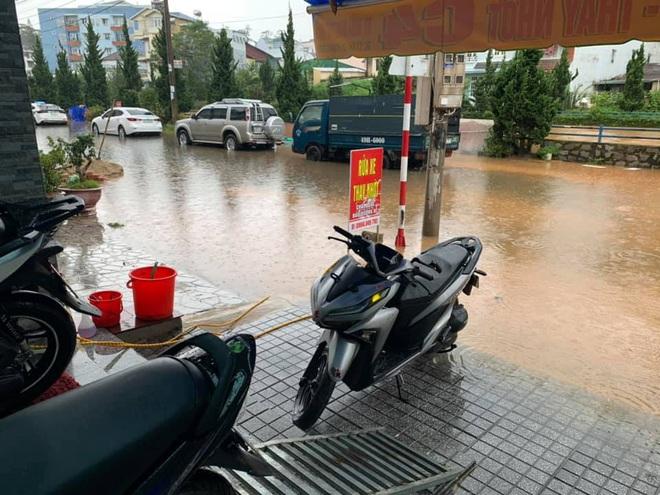 """Dân mạng """"hoảng hồn"""" trước cảnh nhiều tuyến phố Đà Lạt ngập thành sông, du khách có ý định đến đây cần hết sức lưu ý - Ảnh 4."""