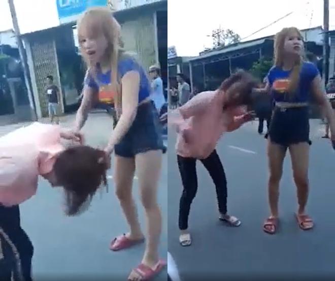 Xôn xao clip cô gái trẻ bị đôi nam nữ đánh tới tấp giữa đường - ảnh 1