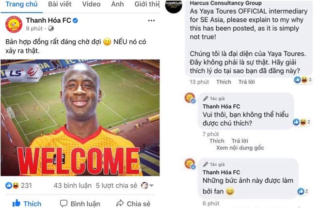 """Fanpage CLB Thanh Hóa bị """"sờ gáy"""" khi tung tin chào đón Yaya Toure đến V.League chỉ để vui thôi - ảnh 1"""