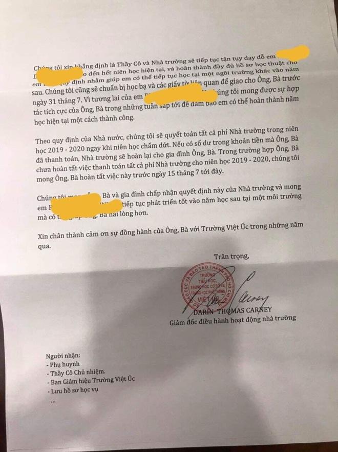 Phản ứng của phụ huynh sau lời giải thích của trường Quốc tế Việt Úc về thông báo không tiếp nhận học sinh dù đang học dở và đã đóng học phí - ảnh 2