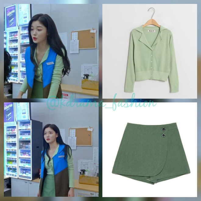 Vào vai cô nhân viên cửa hàng tiện lợi, mỹ nhân Kim Yoo Jung diện đồ hết sức bình dân, có nhiều món giá chỉ loanh quanh 500k - ảnh 7
