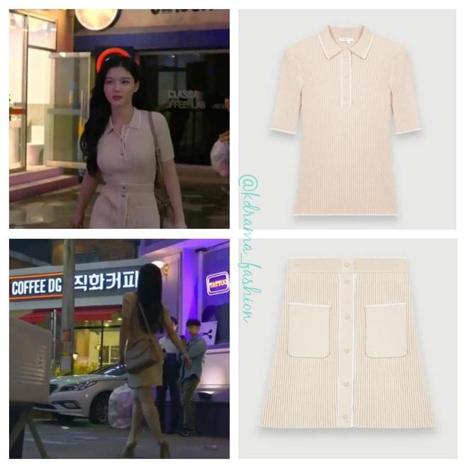 Vào vai cô nhân viên cửa hàng tiện lợi, mỹ nhân Kim Yoo Jung diện đồ hết sức bình dân, có nhiều món giá chỉ loanh quanh 500k - ảnh 13