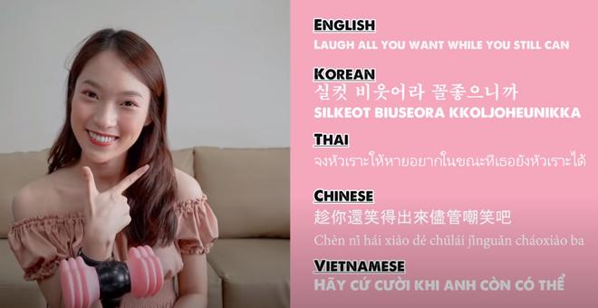 Khánh Vy lại khiến dân tình mắt tròn mắt dẹt khi dịch How You Like That (BLACKPINK) ra 5 thứ tiếng - ảnh 6