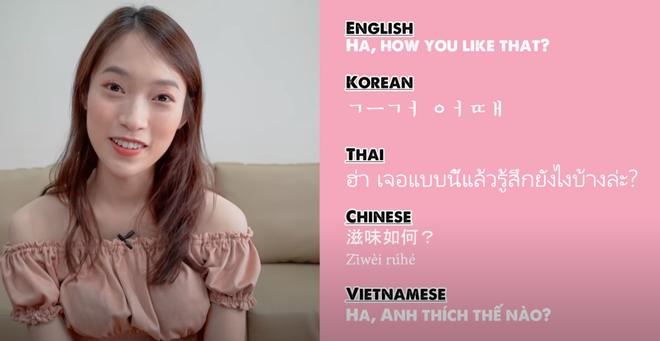 Khánh Vy lại khiến dân tình mắt tròn mắt dẹt khi dịch How You Like That (BLACKPINK) ra 5 thứ tiếng - ảnh 8
