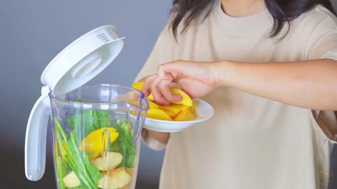 Châu Bùi thị phạm 3 món sinh tố rau xanh thay bữa chính mà vẫn đủ dưỡng chất, Binz hẹn hò với Châu thì kiểu gì cũng lây lối sống healthy này - ảnh 5
