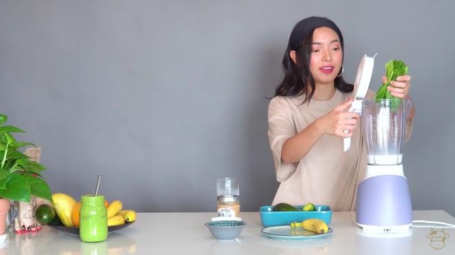 Châu Bùi thị phạm 3 món sinh tố rau xanh thay bữa chính mà vẫn đủ dưỡng chất, Binz hẹn hò với Châu thì kiểu gì cũng lây lối sống healthy này - ảnh 13