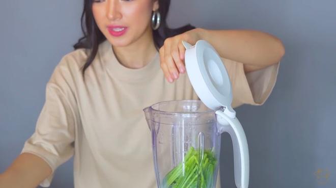 Châu Bùi thị phạm 3 món sinh tố rau xanh thay bữa chính mà vẫn đủ dưỡng chất, Binz hẹn hò với Châu thì kiểu gì cũng lây lối sống healthy này - ảnh 22