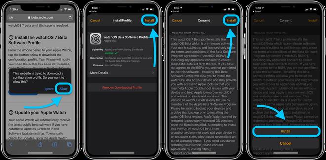 Hướng dẫn cập nhật phiên bản watchOS 7 Public beta mới nhất cho Apple Watch - ảnh 7