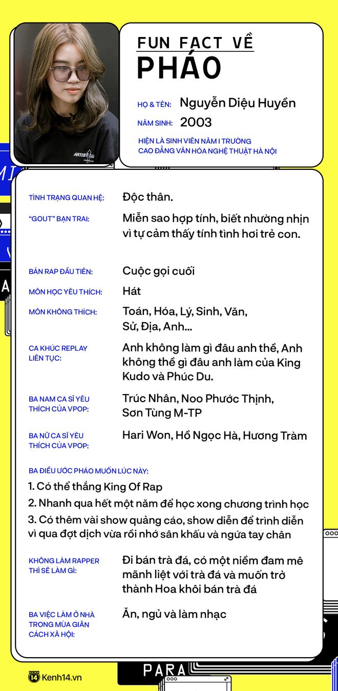 Pháo - cô nàng rapper 17 tuổi: Tham dự King Of Rap vì tên show ngầu hơn Rap Việt, nếu không theo nghệ thuật nhất định sẽ đi bán trà đá! - ảnh 3