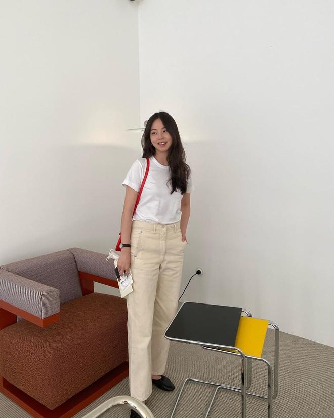 Sao Hàn có 10 cách diện áo phông trắng xinh nức nở, bạn cứ học theo là style chẳng bao giờ bị chê nhạt - ảnh 5