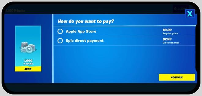 Epic Games cho phép người chơi Fortnite vượt rào thanh toán In-game, thách thức Apple! - ảnh 2