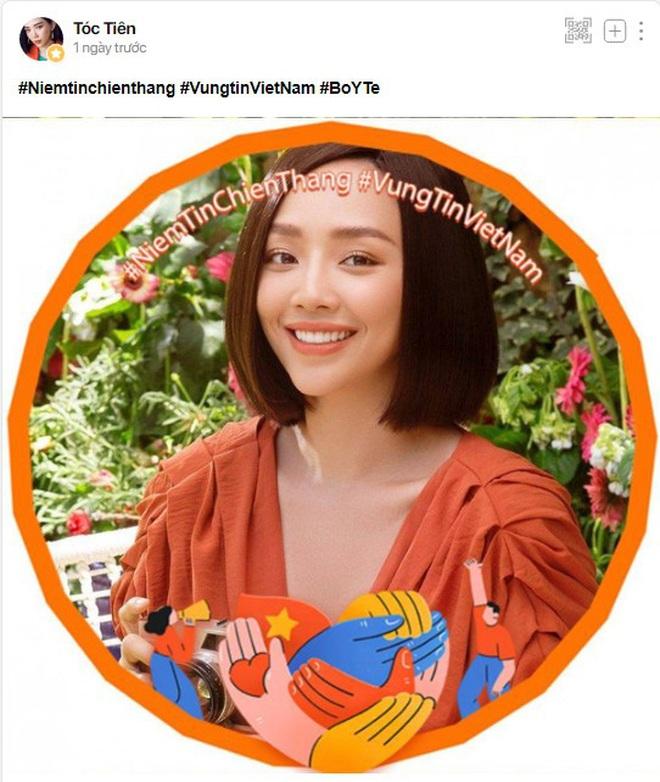 Sao Việt đồng loạt cập nhật avatar cổ vũ Việt Nam chiến thắng COVID-19 - Ảnh 2.