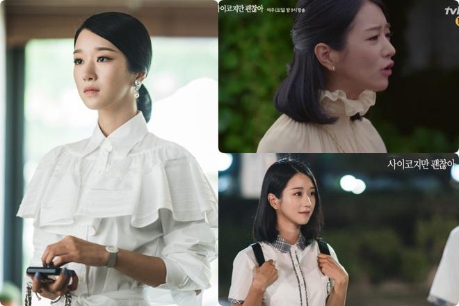 Cả phim đẹp mê hồn, gần cuối phim Seo Ye Ji lại để kiểu tóc xoăn mái già câng - ảnh 2