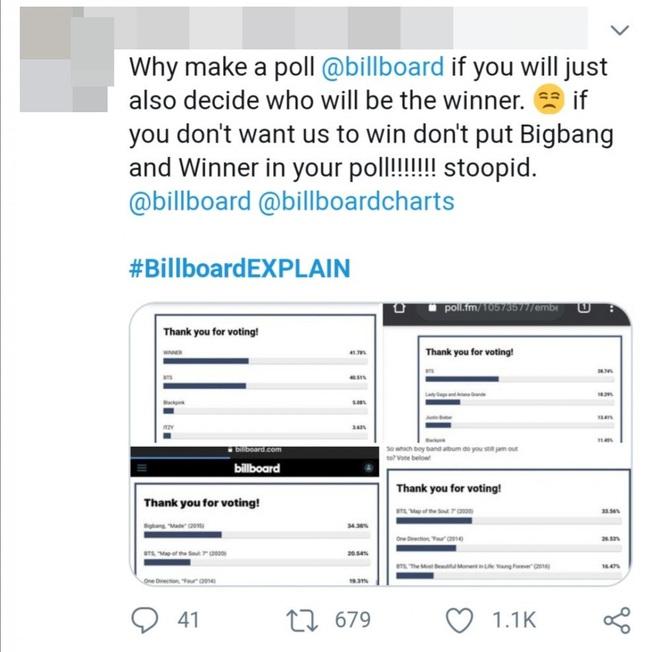 Tranh cãi: Fan BIGBANG và WINNER tố cáo Billboard can thiệp vào kết quả bình chọn để phần thắng nghiêng về phía BTS? - ảnh 6