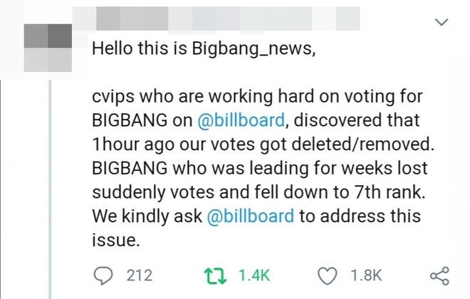 Tranh cãi: Fan BIGBANG và WINNER tố cáo Billboard can thiệp vào kết quả bình chọn để phần thắng nghiêng về phía BTS? - ảnh 7