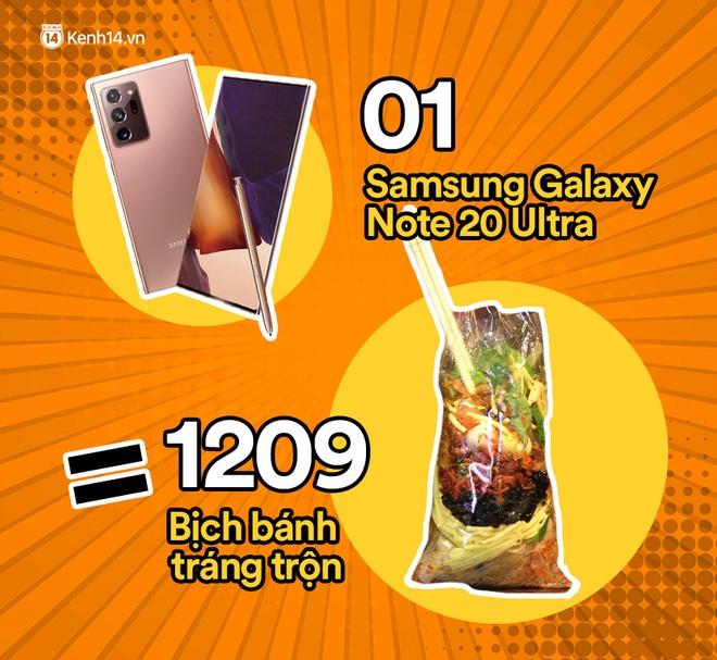 Một chiếc Samsung Galaxy Note20 Ultra sẽ đổi được bao nhiêu cốc trà sữa, bao nhiêu bịch bánh tráng trộn? - ảnh 2