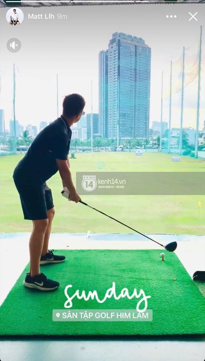 Ảnh độc quyền Hương Giang - Matt Liu: Đi đánh golf chung, chàng gửi hoa tặng nàng! - ảnh 3
