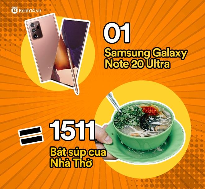 Một chiếc Samsung Galaxy Note20 Ultra sẽ đổi được bao nhiêu cốc trà sữa, bao nhiêu bịch bánh tráng trộn? - ảnh 10