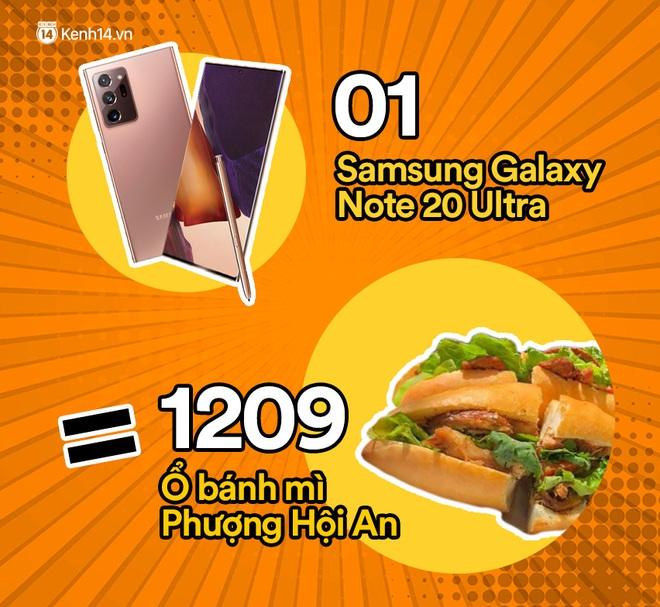 Một chiếc Samsung Galaxy Note20 Ultra sẽ đổi được bao nhiêu cốc trà sữa, bao nhiêu bịch bánh tráng trộn? - ảnh 11
