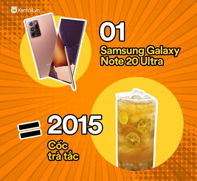 Một chiếc Samsung Galaxy Note20 Ultra sẽ đổi được bao nhiêu cốc trà sữa, bao nhiêu bịch bánh tráng trộn? - ảnh 5