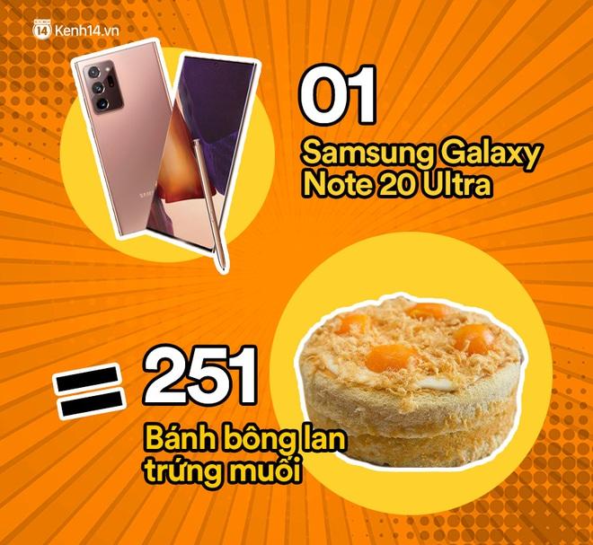 Một chiếc Samsung Galaxy Note20 Ultra sẽ đổi được bao nhiêu cốc trà sữa, bao nhiêu bịch bánh tráng trộn? - ảnh 6