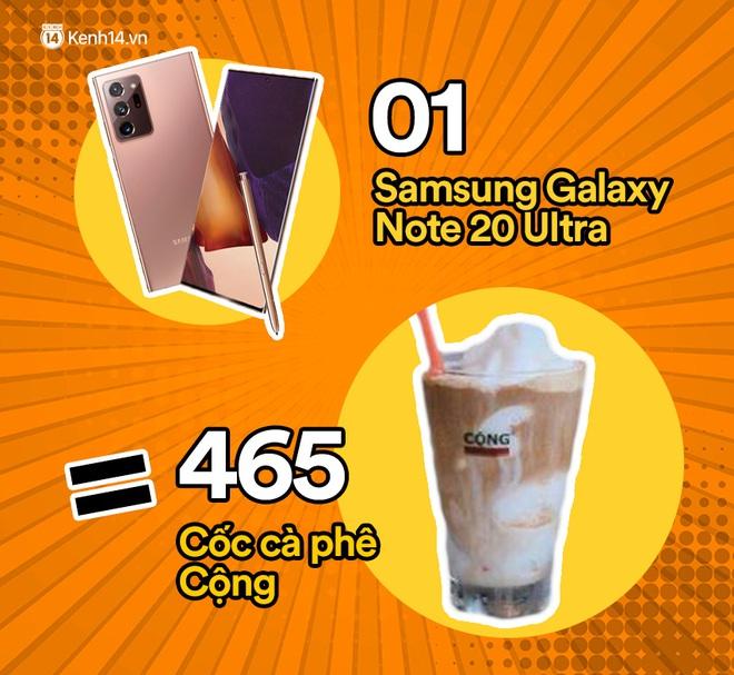 Một chiếc Samsung Galaxy Note20 Ultra sẽ đổi được bao nhiêu cốc trà sữa, bao nhiêu bịch bánh tráng trộn? - ảnh 8