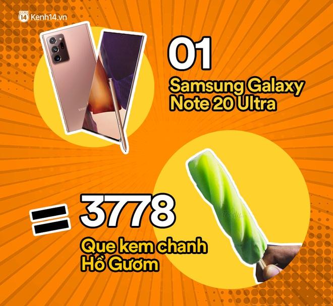 Một chiếc Samsung Galaxy Note20 Ultra sẽ đổi được bao nhiêu cốc trà sữa, bao nhiêu bịch bánh tráng trộn? - ảnh 9