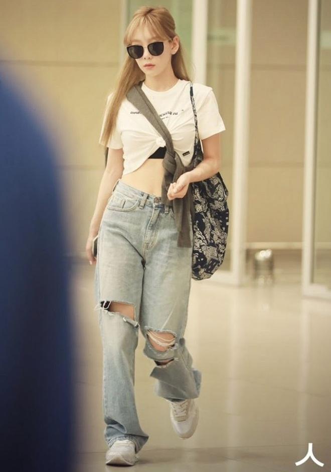 Sao Hàn có đến 8 chiêu nâng tầm sang xịn cho quần baggy jeans, copy theo thì style của bạn cũng thăng điểm tức thì - ảnh 7