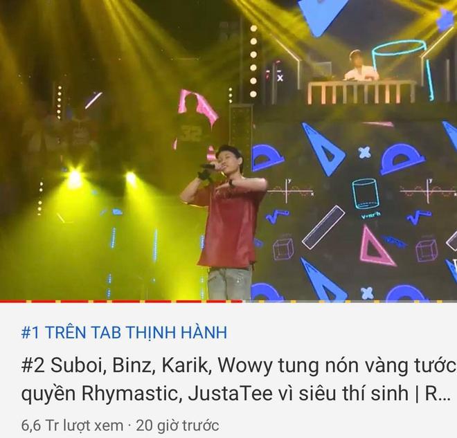Rap Việt đấu đá nhau trên top trending YouTube: Tập 2 nhanh chóng vượt tập 1 để giành ngôi vương - ảnh 1