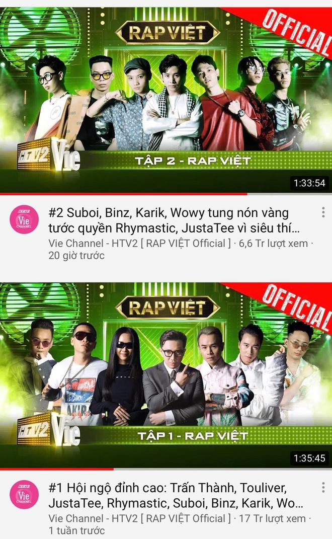 Rap Việt đấu đá nhau trên top trending YouTube: Tập 2 nhanh chóng vượt tập 1 để giành ngôi vương - ảnh 3