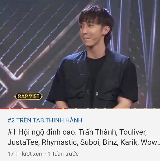 Rap Việt đấu đá nhau trên top trending YouTube: Tập 2 nhanh chóng vượt tập 1 để giành ngôi vương - ảnh 2