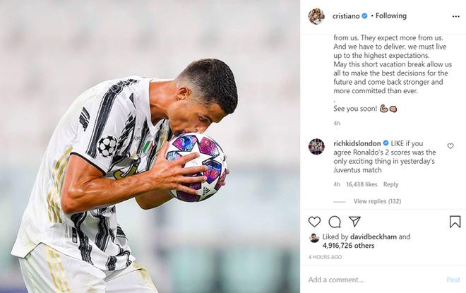 Ronaldo viết tâm thư gửi tới fan hâm mộ sau kết quả đáng thất vọng tại Champions League, lập tức nhận về hàng triệu lượt thả tim - ảnh 1