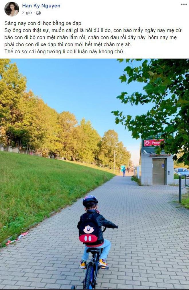 Chuyện hội hot kid - con nhà tuyển thủ đến trường: Bé nghĩ đủ lý do để được tự đi xe đạp, bé lý sự không muốn đi học - ảnh 4