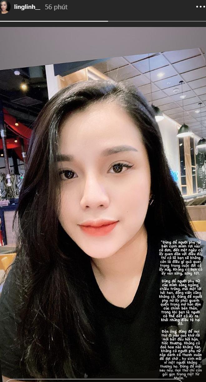 """Biến căng cực: Khánh Linh nhận là """"single mom"""", độc thân và xoá sạch ảnh chụp chung kể cả ảnh ăn hỏi cùng Tiến Dũng - Ảnh 2."""