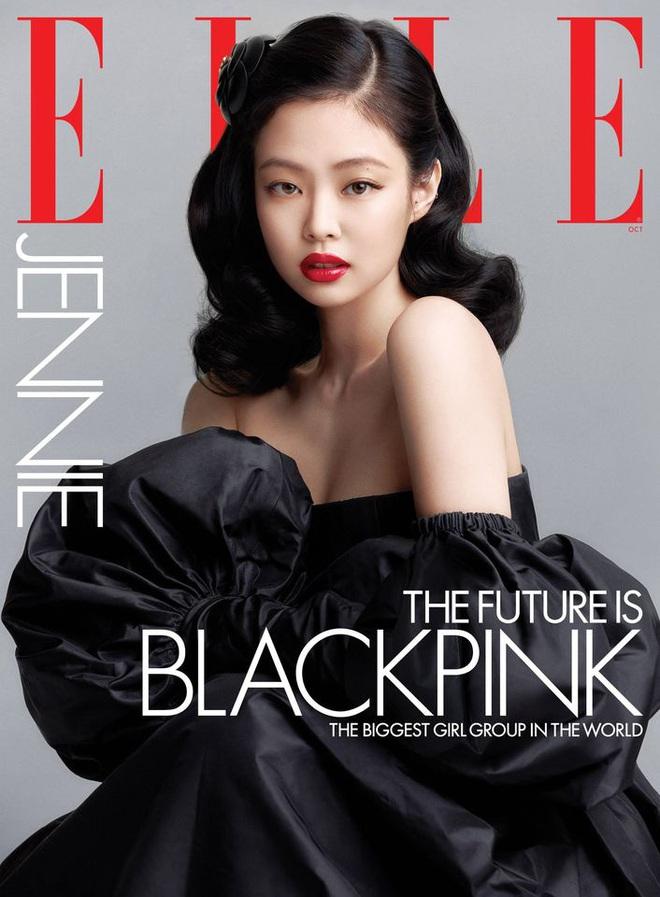 BLACKPINK lên hẳn bìa Elle Mỹ: Ngất lịm với kiểu tóc già đanhcủa Jennie, Rosé xuất thần, Jisoo - Lisa vẫn một màu - ảnh 1