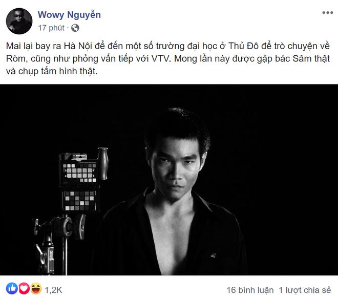Wowy thành fan cuồng của MC Lại Văn Sâm mất rồi: Tiếp tục ra Hà Nội truy lùng thần tượng, lần này dịp gì đây? - ảnh 1