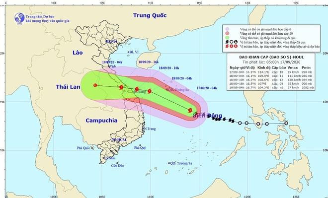 Bão số 5 di chuyển nhanh, giật cấp 13 hướng vào miền Trung gây mưa lớn trên cả nước - ảnh 1