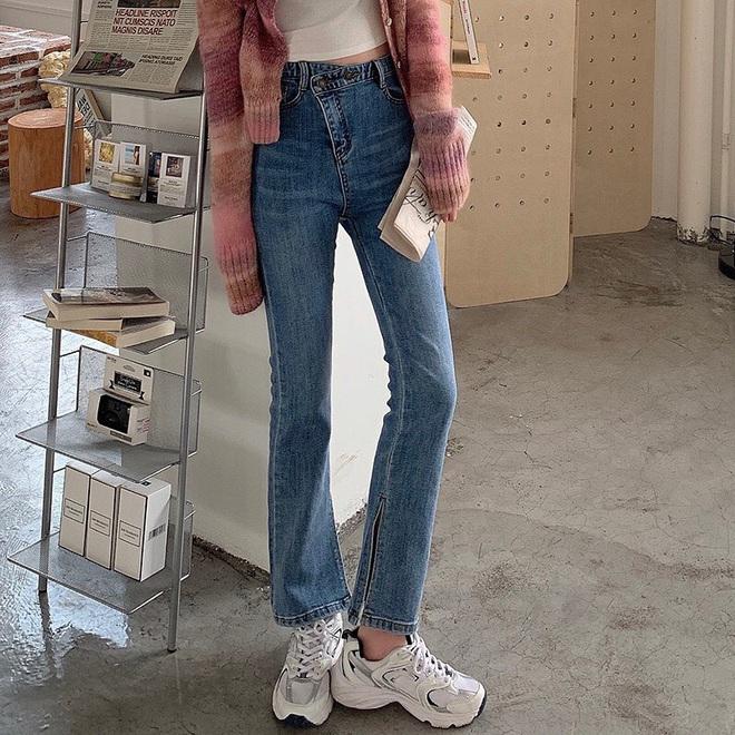Mùa thu diện quần jeans ống loe chanh sả biết mấy, lại hack chân dài không tậu hơi phí - ảnh 19