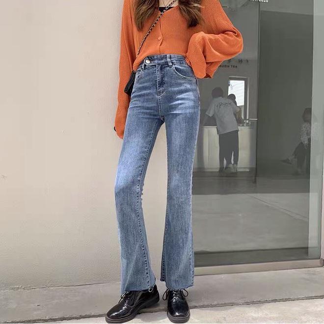 Mùa thu diện quần jeans ống loe chanh sả biết mấy, lại hack chân dài không tậu hơi phí - ảnh 15
