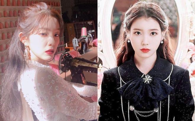 """Chỉ cần diện tóc buộc nửa đơn giản mà Irene, IU như nữ thần, chị em bắt chước theo sẽ """"auto"""" xinh không kém - Ảnh 1."""