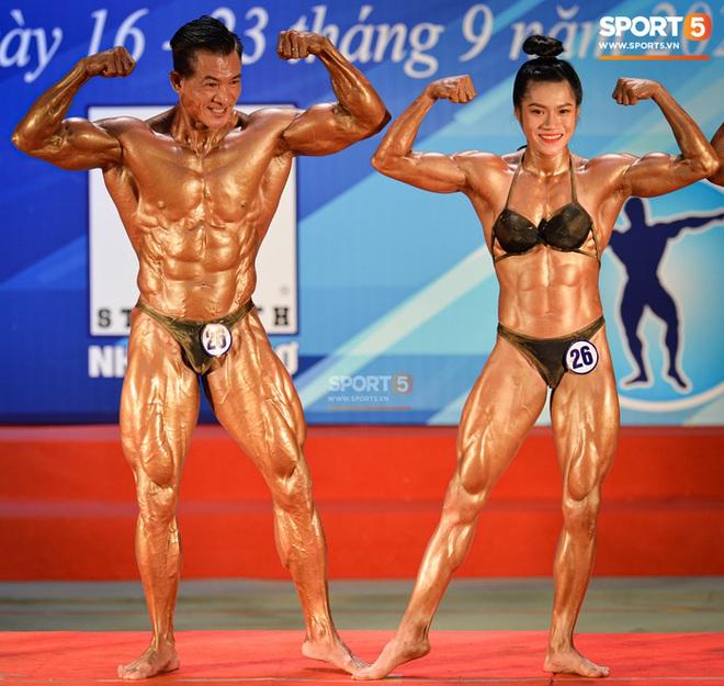 Búp bê cơ bắp Trần Ny Ny thắng tuyệt đối ở hạng 55 cân nữ giải thể hình các CLB toàn quốc - ảnh 7