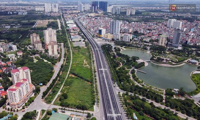 Cận cảnh cầu cạn Mai Dịch - Nam Thăng Long đã rải nhựa xong chờ ngày thông xe - ảnh 4
