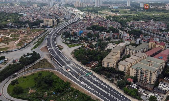 Cận cảnh cầu cạn Mai Dịch - Nam Thăng Long đã rải nhựa xong chờ ngày thông xe - ảnh 20